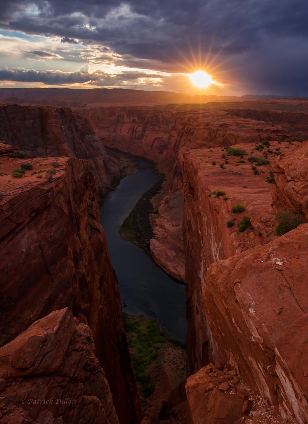 colorado river gorge sunset -0542