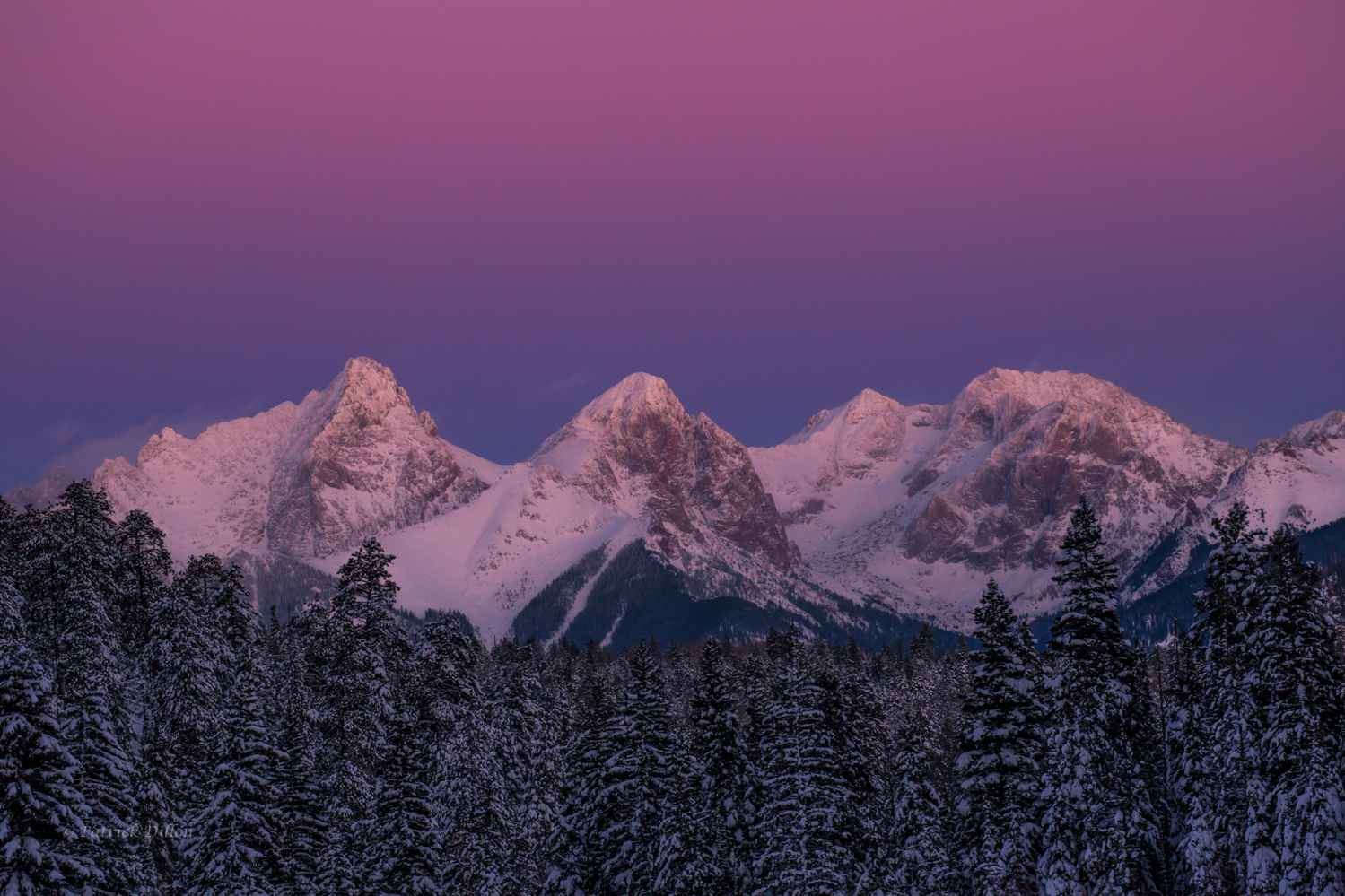 Needle Mountains Belt of Venus sunset email-7910