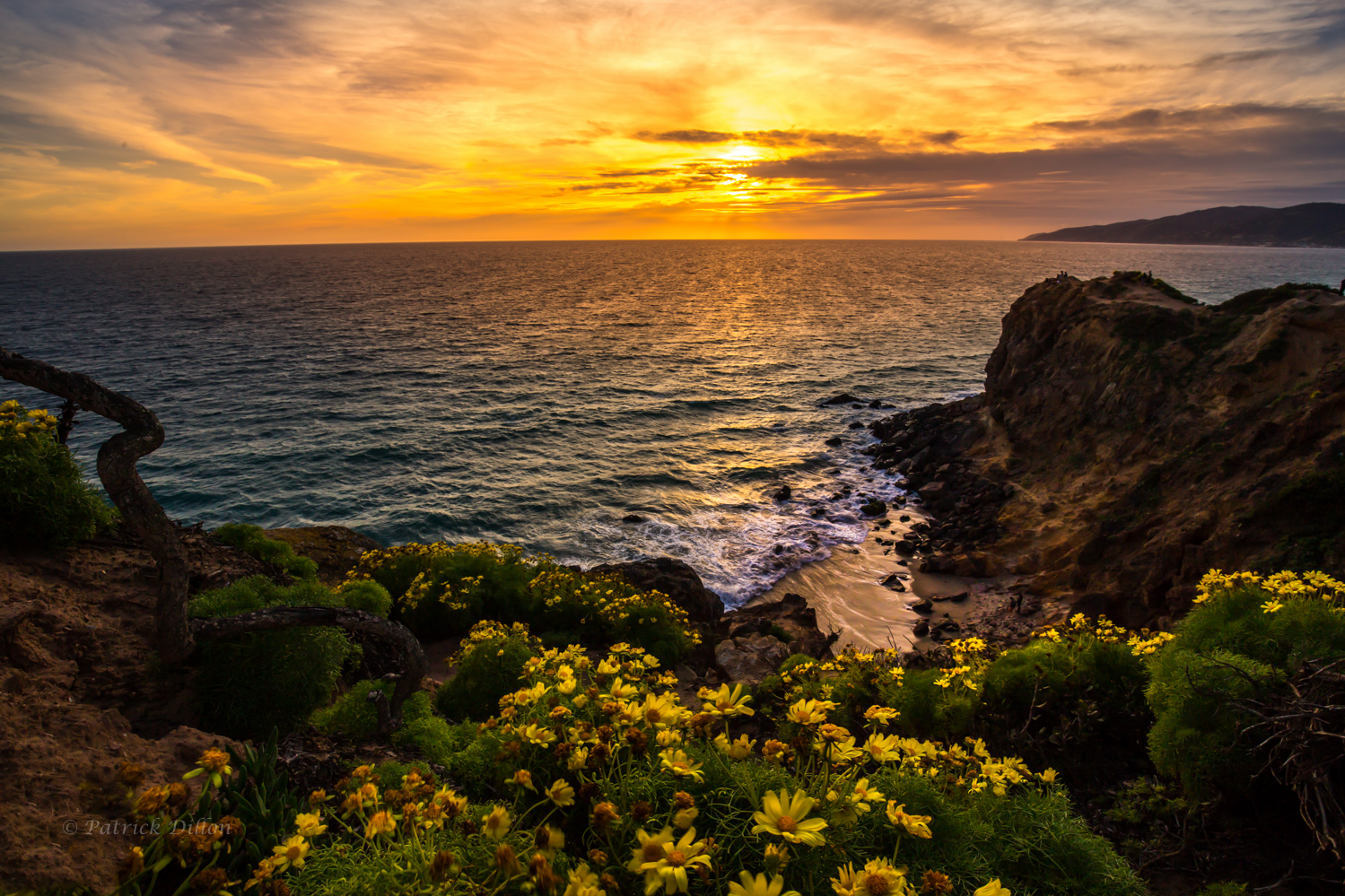 malibu coast sunset