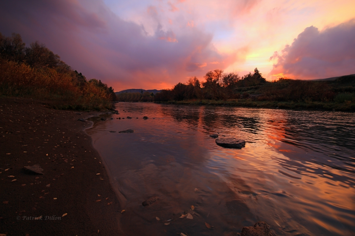 Animas River fall sunset image 2636