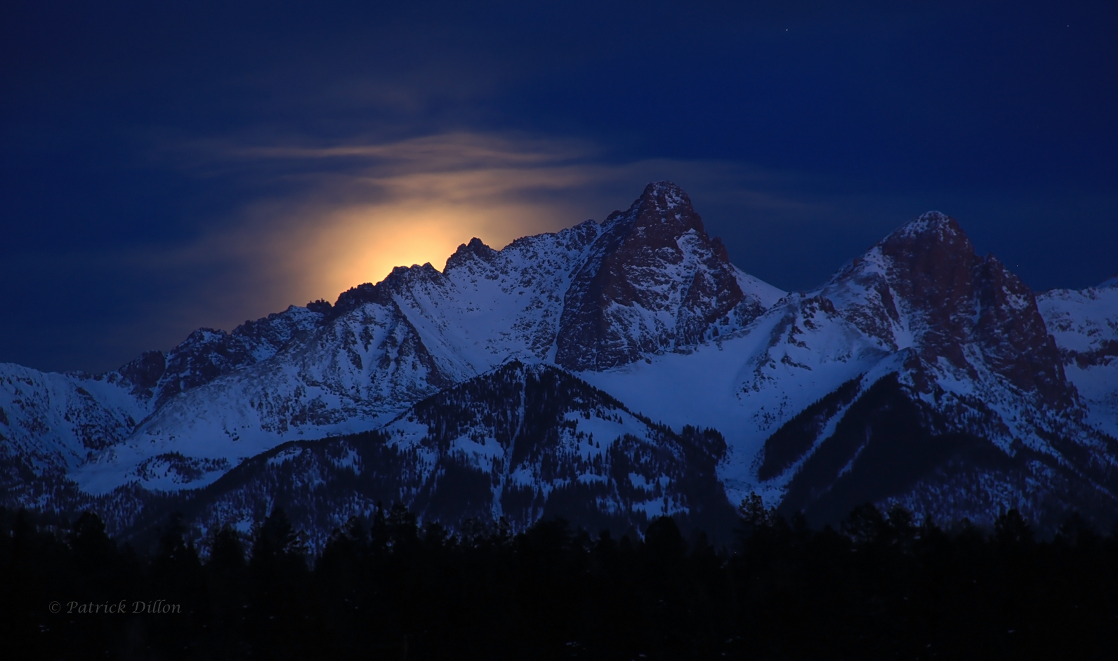 Needles moon rise - San Juan Mountians