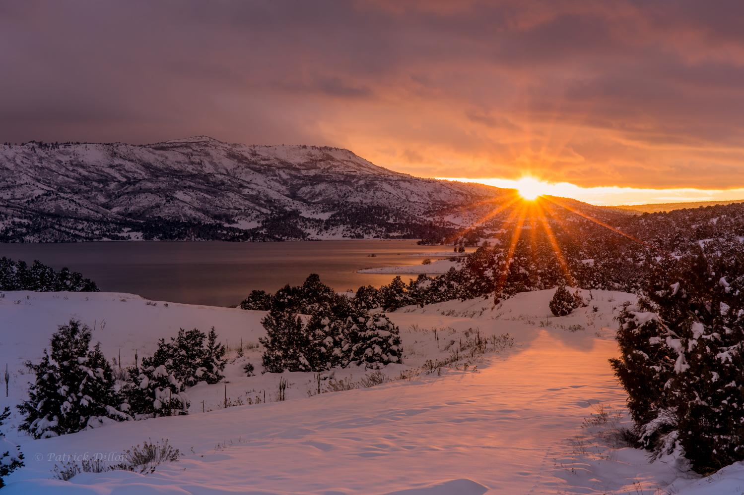 sunstar lake reflections