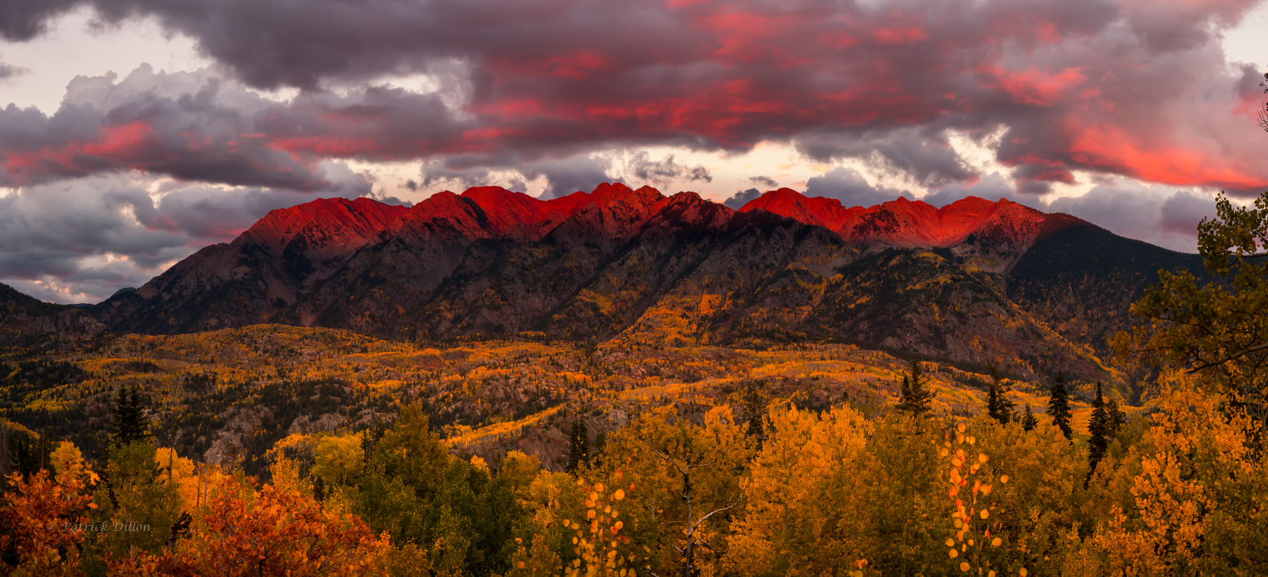 Heavenly crown fall colors sunset Needle mountains