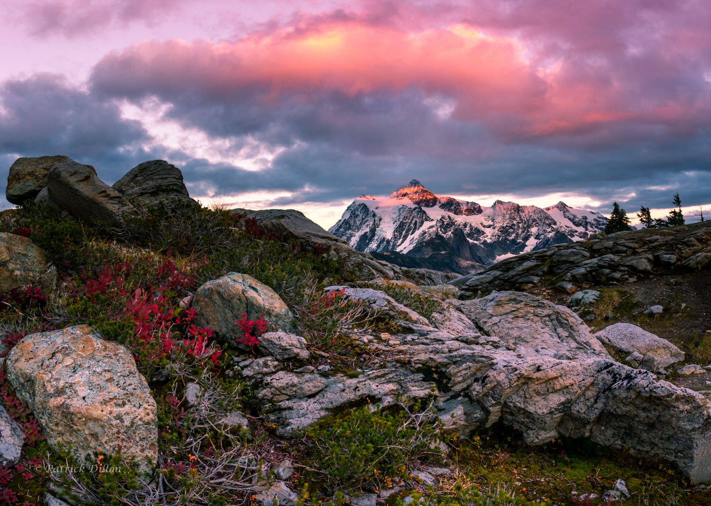 Mt Shuksan artist point fall sunset