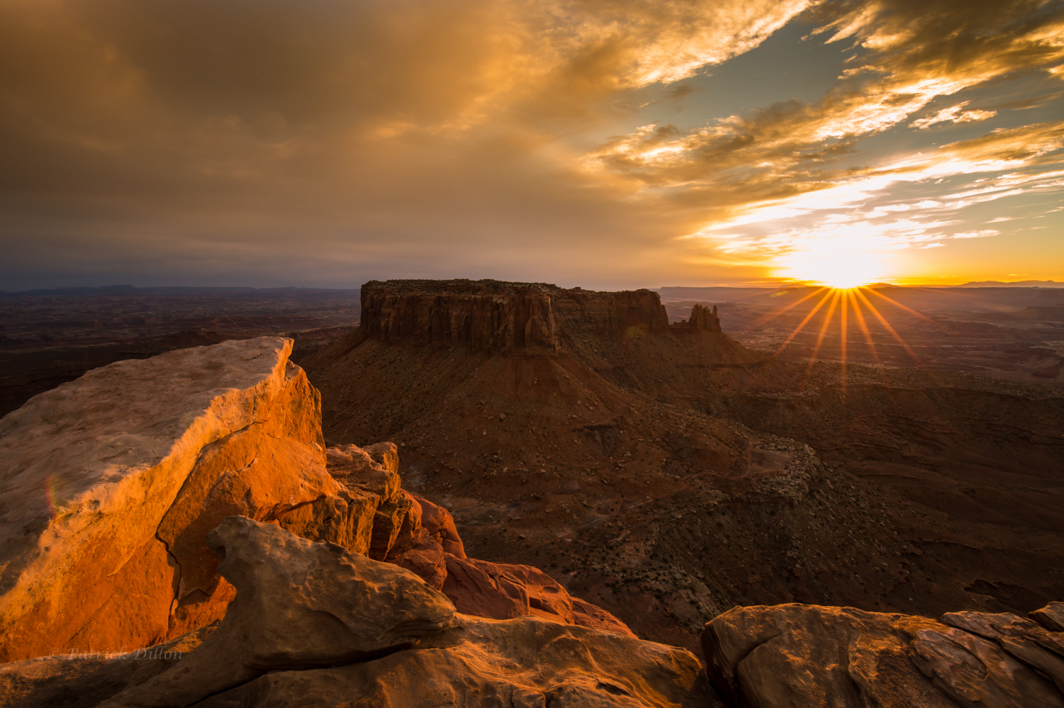 Canyonlands National Park Golden sunset