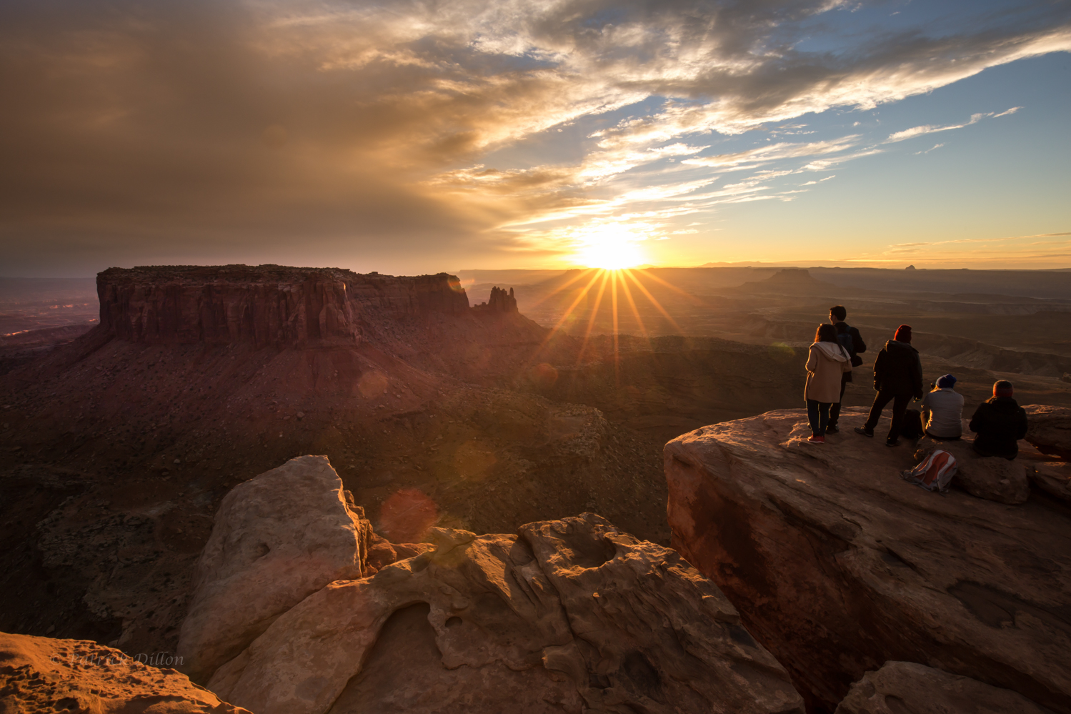 Canyonlands NP Sunset with People